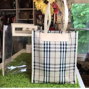 HOST PICK 💕 BURBERRY Clear Tote Removable Shopper